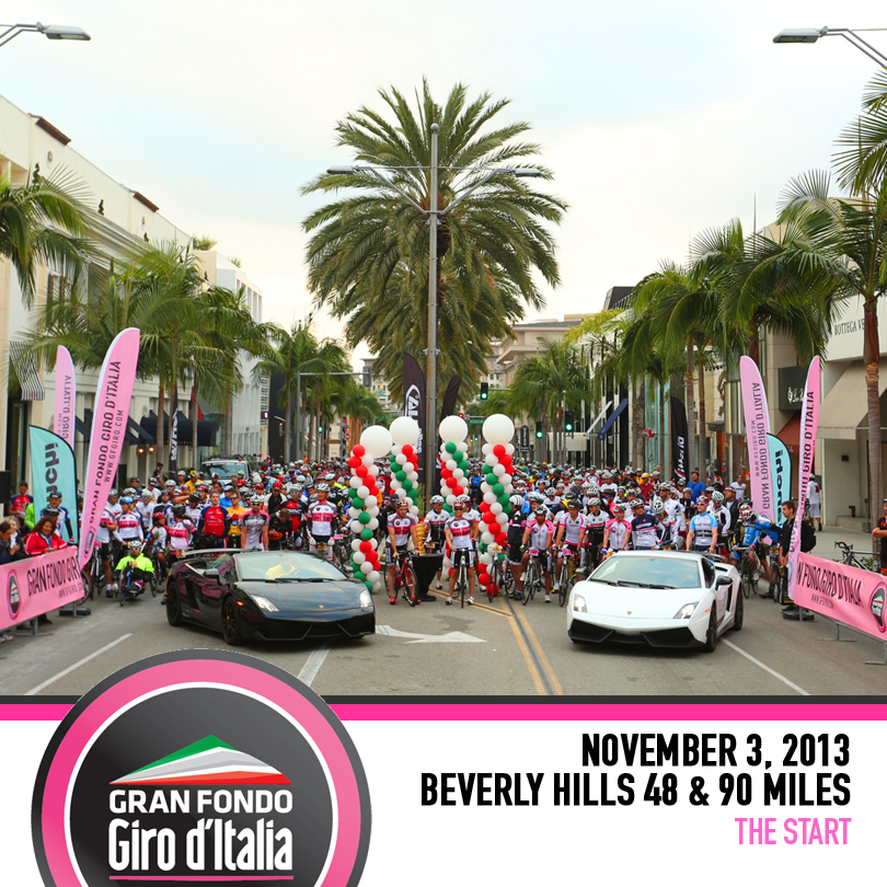 Gran Fondo Giro d'Italia Beverly Hills Nov 3, 2013